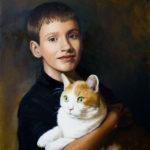 Nathan & Munchkin, Oil, 16x20