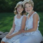 Becky & Lizzie, Pastel, 24x30